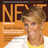 NEXT Magazine for Baby Boomers - Summer 2012 Issue - Suzie Orman Cover