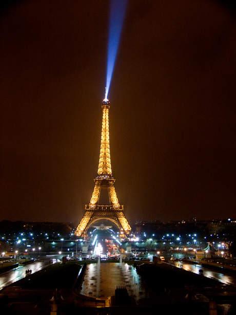Travel - Eiffel Tower, Paris, at night